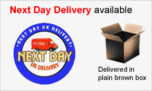 Orders before 2pm are despatched the same day.